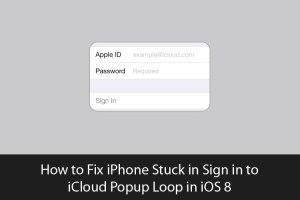 memperbaiki iPhone yg terjebak dalam Popup loop masuk ke iCloud di iOS 8 - 1
